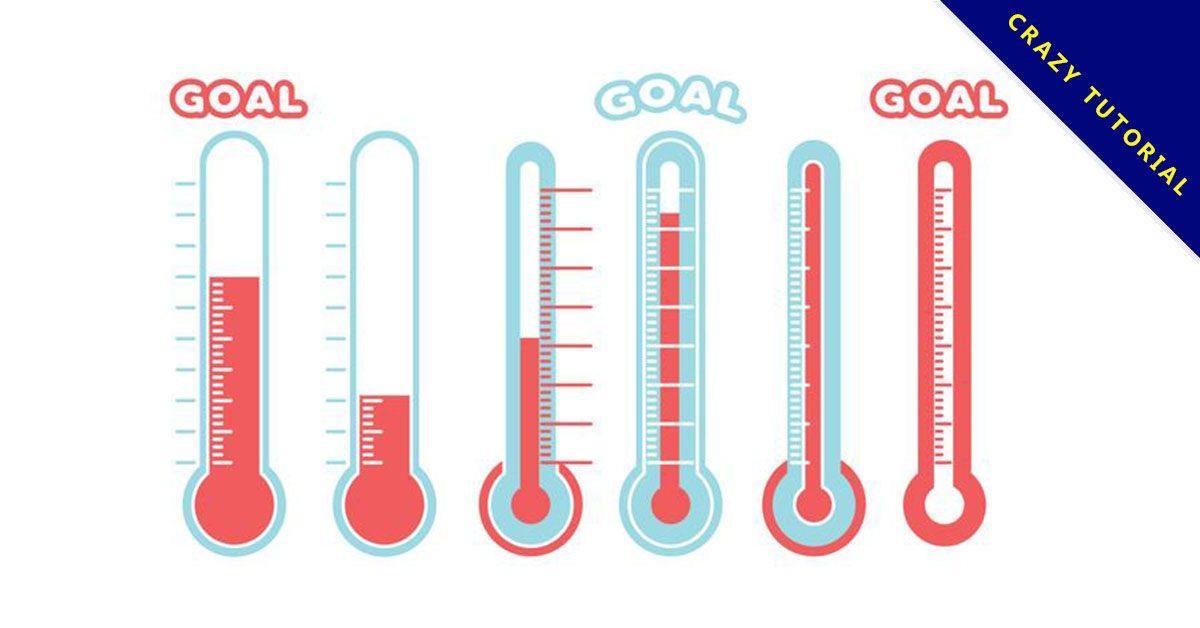 【溫度計icon】38套 Illustrator 溫度計圖片下載,溫度計卡通推薦款