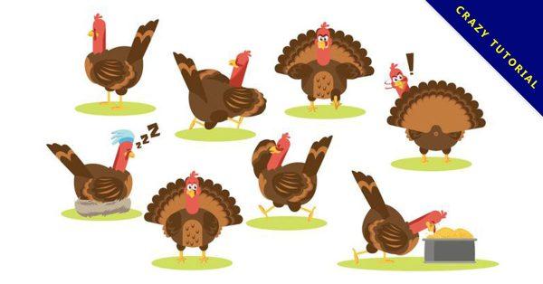 【火雞圖片】34套 Illustrator 火雞圖案下載,火雞照片推薦款
