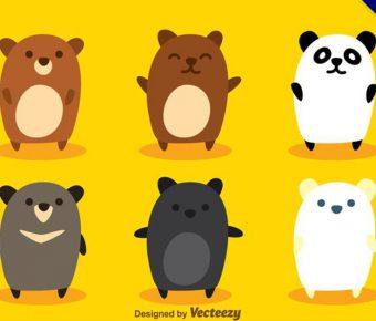 【熊貓卡通圖】28套 Illustrator 熊貓Q版圖下載,熊貓圖案推薦款