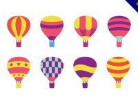 【熱氣球圖案】38套 Illustrator 熱氣球卡通下載,熱氣球素材推薦款