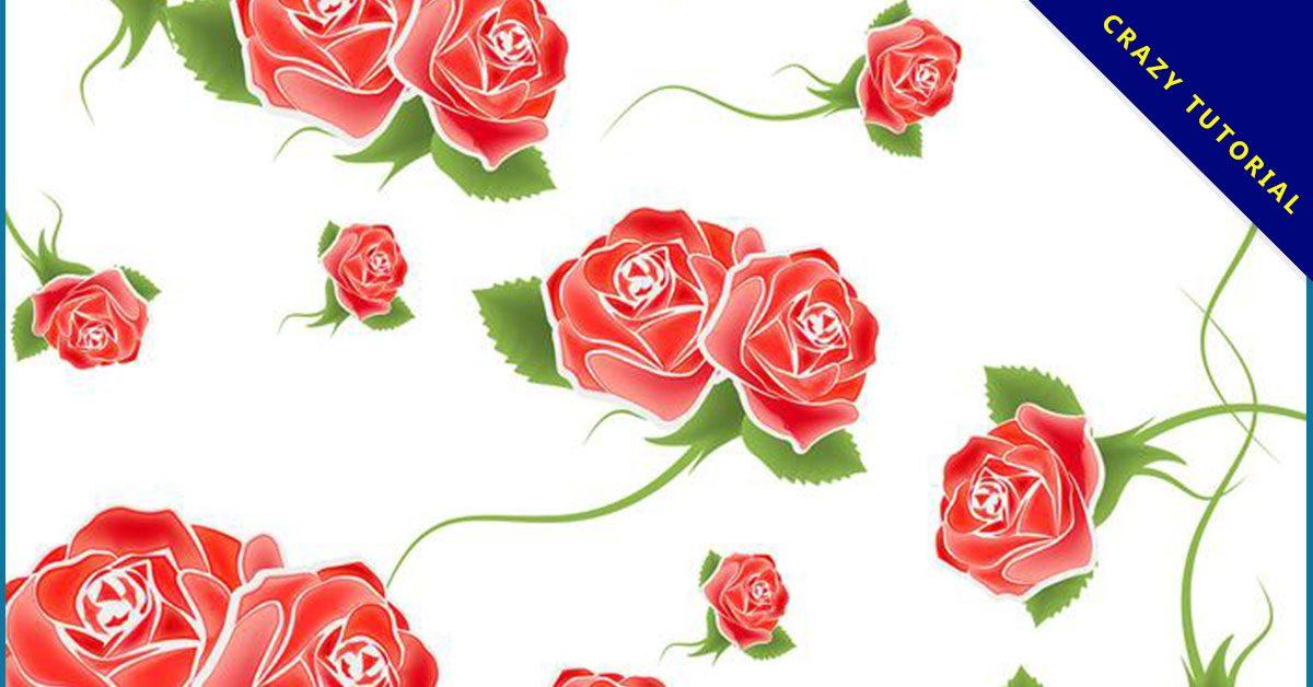 【玫瑰圖案】35套 Illustrator 玫瑰素材下載,玫瑰卡通圖推薦款