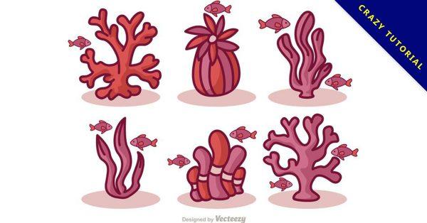 【珊瑚圖片】39套 Illustrator 珊瑚素材下載,珊瑚壁紙推薦款