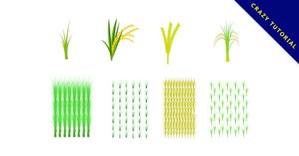 【稻田圖片】32套 Illustrator 稻田背景圖下載,稻田插畫推薦款