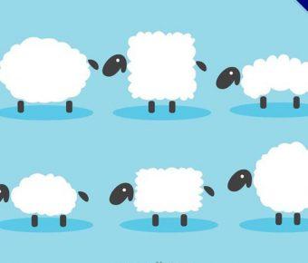 【綿羊圖案】35套 Illustrator 綿羊q版圖下載,羊 圖騰推薦款