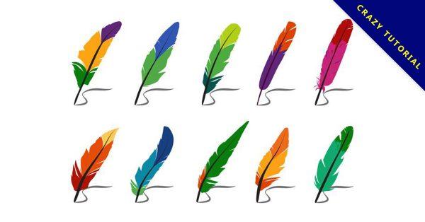 【羽毛素材】40套 Illustrator 羽毛圖騰下載,羽毛圖案推薦款