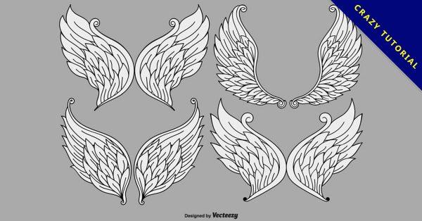 【翅膀符號】35套 Illustrator 翅膀圖案下載,翅膀素材推薦款