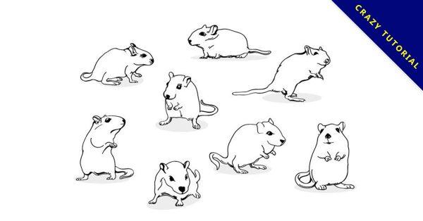 【老鼠圖案】35套 Illustrator 老鼠Q版圖下載,老鼠卡通圖推薦款
