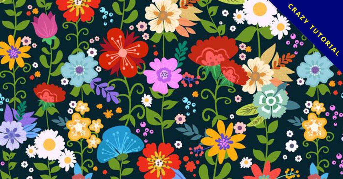 【花png】31套 Illustrator 花圖案下載,花插畫推薦款