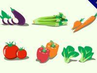 【蔬果圖案】31套 Illustrator 蔬果素材下載,蔬果圖庫推薦款
