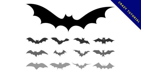 【蝙蝠圖案】38套 Illustrator 蝙蝠 q 版圖下載,蝙蝠圖騰推薦款