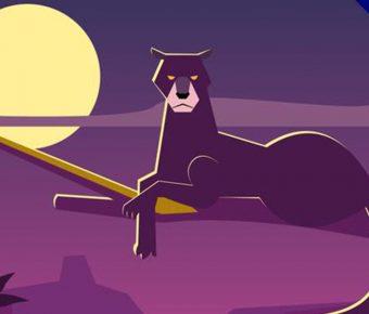 【豹卡通圖】34套 Illustrator 豹 logo下載,豹圖案推薦款