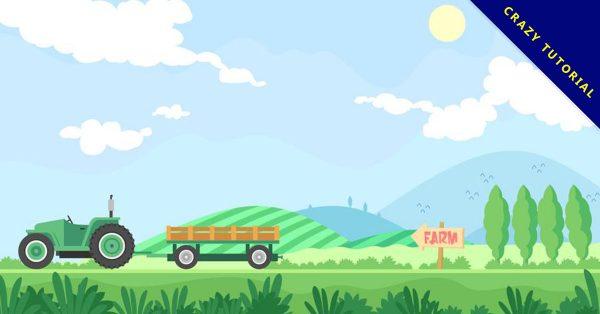 【農場圖片】32套 Illustrator 農場圖案下載,農場素材推薦款