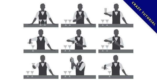 【酒吧素材】34套 Illustrator 酒吧圖片下載,酒吧背景推薦款