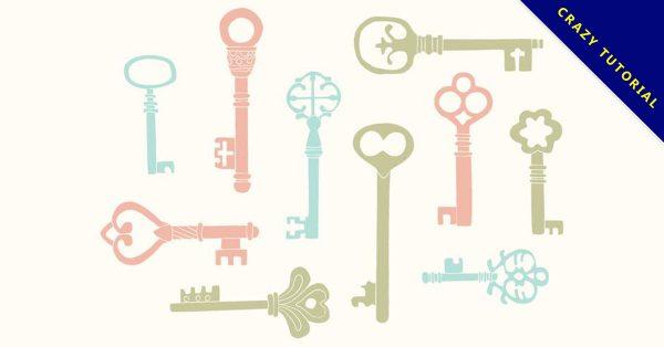 【鑰匙圖案】35套 Illustrator 鑰匙符號下載,鑰匙卡通圖推薦款