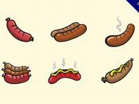 【香腸圖案】30套 Illustrator 香腸圖片下載,香腸照片推薦款