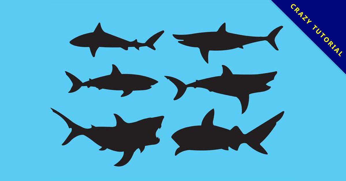 【鯊魚圖案】38套 Illustrator 鯊魚圖片下載,鯊魚圖畫推薦款