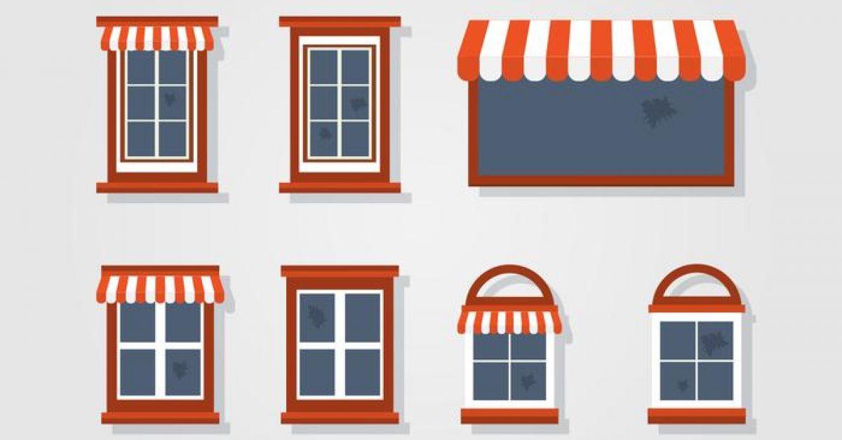 【窗戶素材】31套 Illustrator 窗戶圖片下載,窗戶框素材推薦款