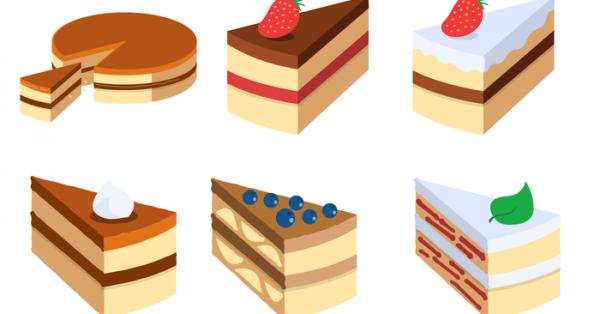 【蛋糕插畫】38套 Illustrator 蛋糕符號下載,蛋糕素材推薦款