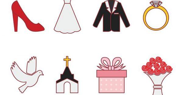 【結婚素材】32套 Illustrator 結婚圖案下載,結婚卡通圖案推薦款