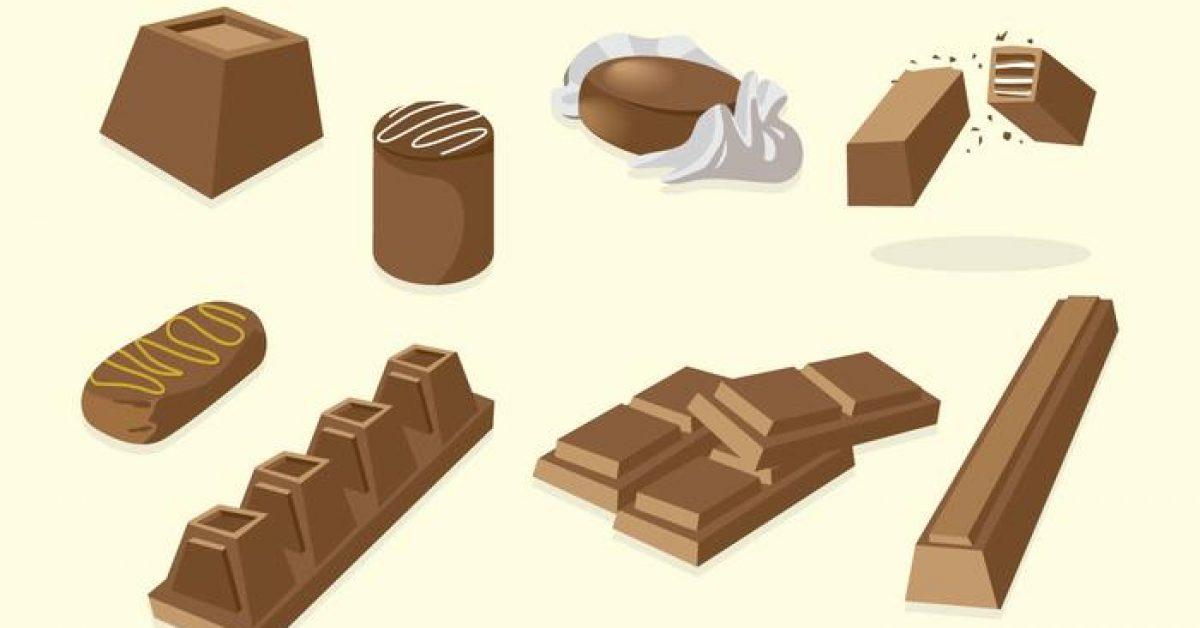 【巧克力圖案】38套 Illustrator 巧克力圖片下載,巧克力卡通圖推薦款