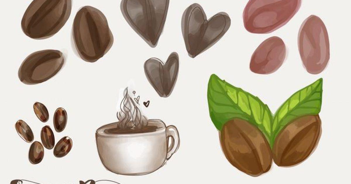 【咖啡豆圖案】28套 Illustrator 咖啡豆圖片下載,咖啡豆素材推薦款