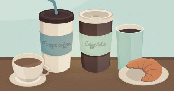 【咖啡圖庫】30套 Illustrator 咖啡符號下載,咖啡手繪圖推薦款