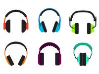 【耳機符號】34套 Illustrator 耳機圖示下載,耳機卡通圖案推薦款