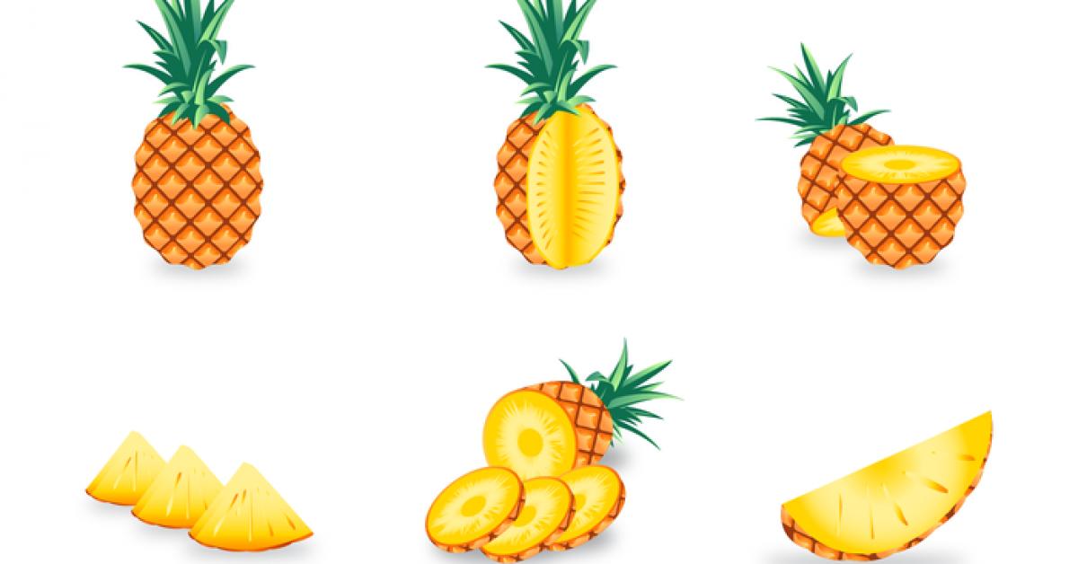 【鳳梨圖案】70套 Illustrator AI鳳梨圖案素材下載,鳳梨圖片推薦款