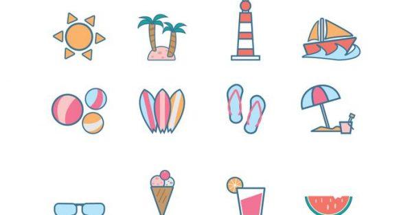 【海灘桌布】32套 Illustrator 沙灘素材下載,海灘背景推薦款