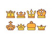 【皇冠圖騰】34套 Illustrator 皇冠照片下載,可愛皇冠圖案推薦款