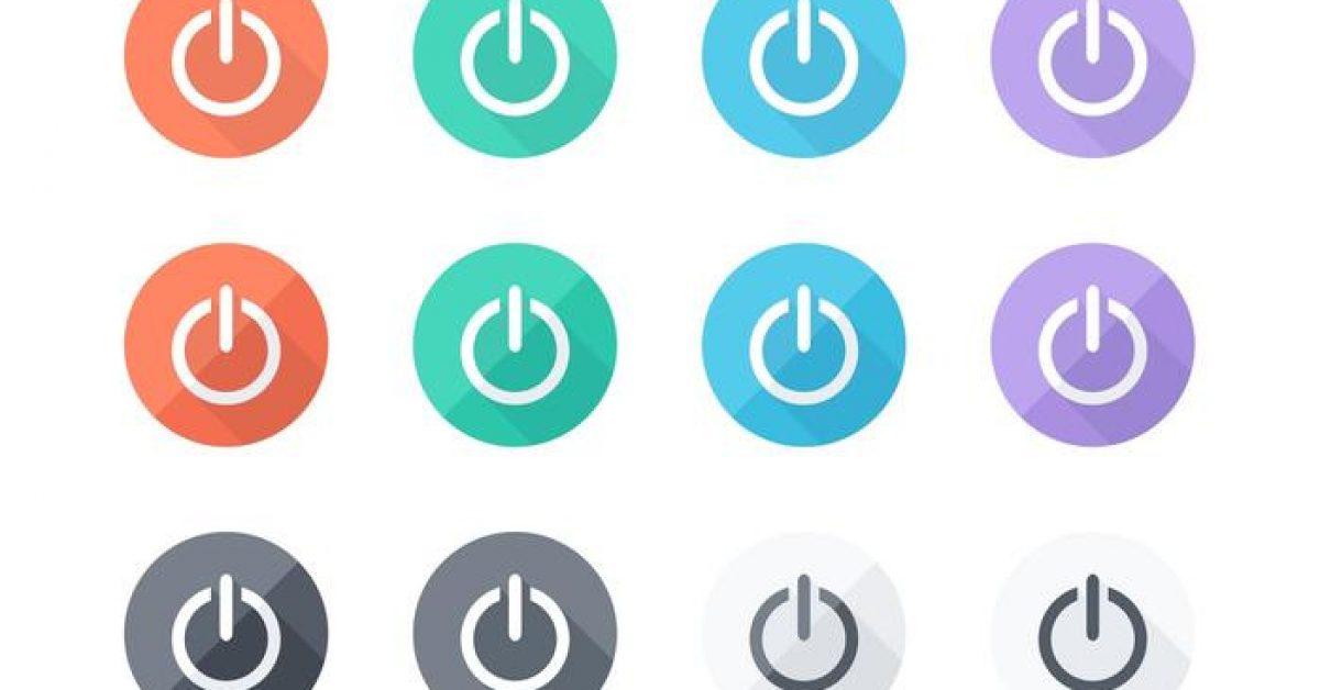 【電源符號】31套 Illustrator 電源圖示下載,電源按鈕推薦款