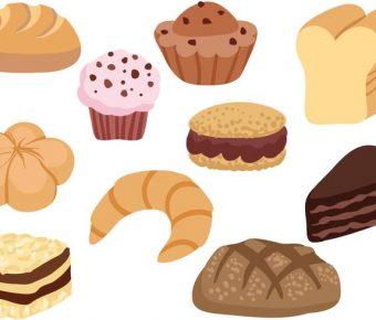 【麵包圖案】37套 Illustrator 麵包圖片下載,麵包卡通圖推薦款