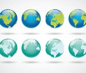 【地球圖案】63套 Illustrator 地球Q版圖下載,地球卡通圖推薦款