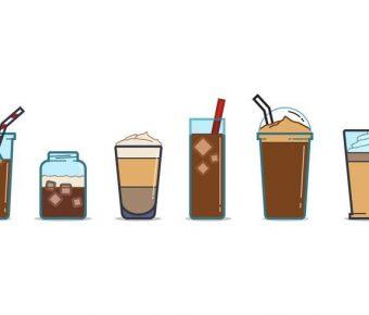 【咖啡圖案】32套 Illustrator 咖啡素材下載,咖啡插圖推薦款