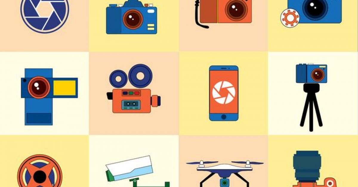 【相機插畫】40套 Illustrator 相機 logo下載,相機圖 示推薦款