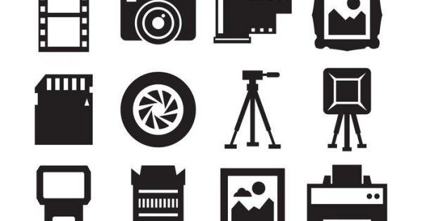 【相機 icon】39套 Illustrator 相機卡通圖下載,相機 q版圖推薦款