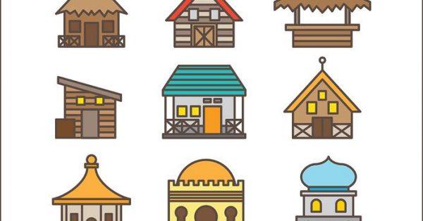 【房屋圖片】34套 Illustrator 房屋圖案下載,房屋素材推薦款