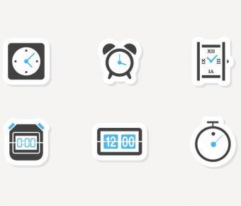 【時鐘圖案】36套 Illustrator 時鐘素材下載,時鐘符號推薦款