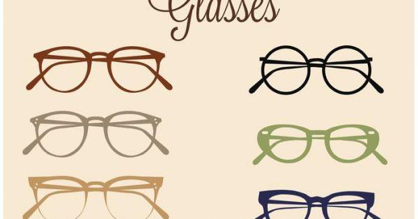 【墨鏡素材】37套 Illustrator 眼鏡圖案下載,眼鏡 icon推薦款