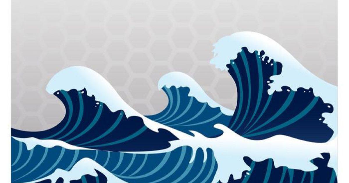 【海浪素材】60套 Illustrator 海浪圖案下載,海浪圖騰推薦款