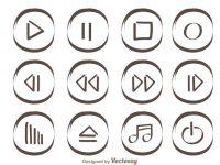 【播放符號】55套 Illustrator 播放按鈕圖下載,播放icon推薦款