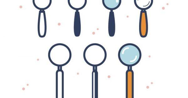 【放大鏡 icon】38套 Illustrator 放大鏡符號下載,放大鏡素材推薦款