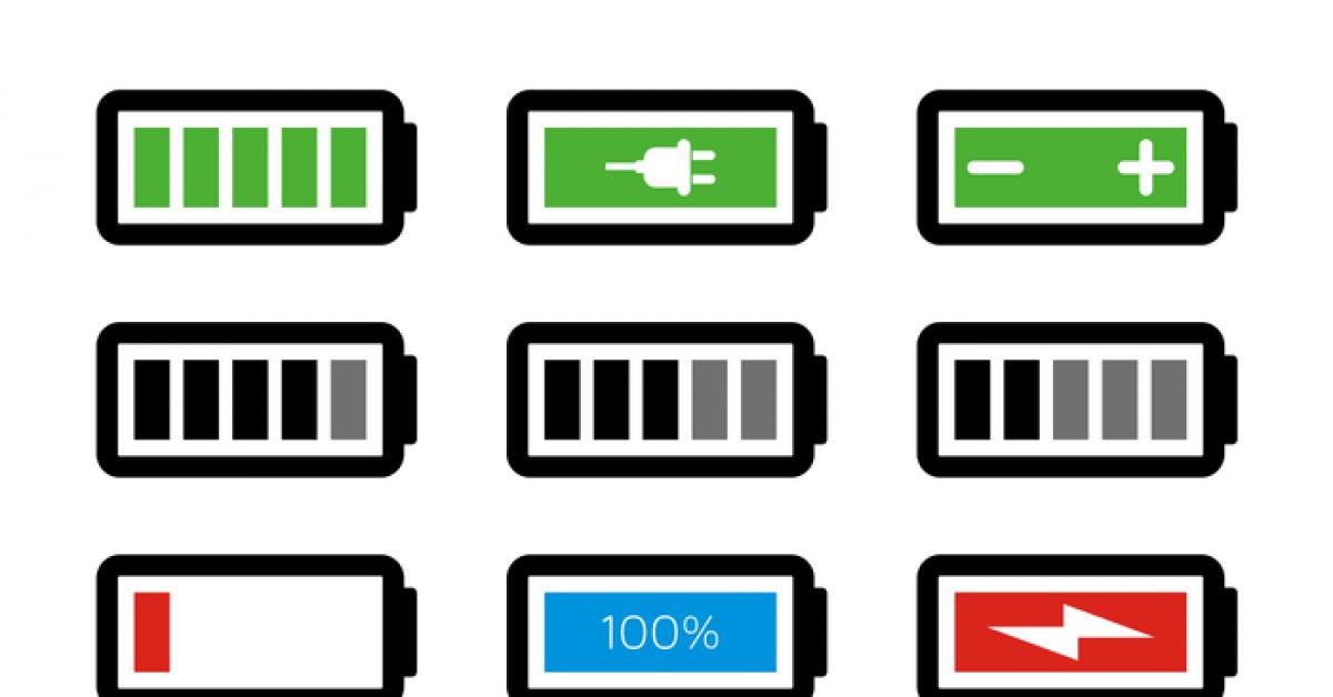 【電池符號】26套 Illustrator 電池圖示下載,電池icon推薦款