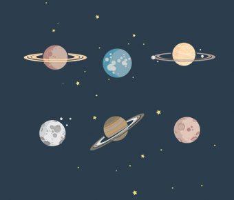【宇宙圖】64套 Illustrator 宇宙背景圖下載,外太空卡通圖推薦款