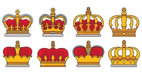 【皇冠符號】35套 Illustrator 皇冠圖案下載,皇冠素材推薦款