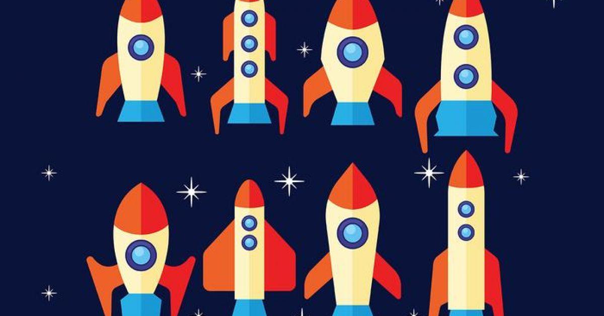 【火箭圖案】32套 Illustrator 火箭圖片下載,火箭卡通圖推薦款