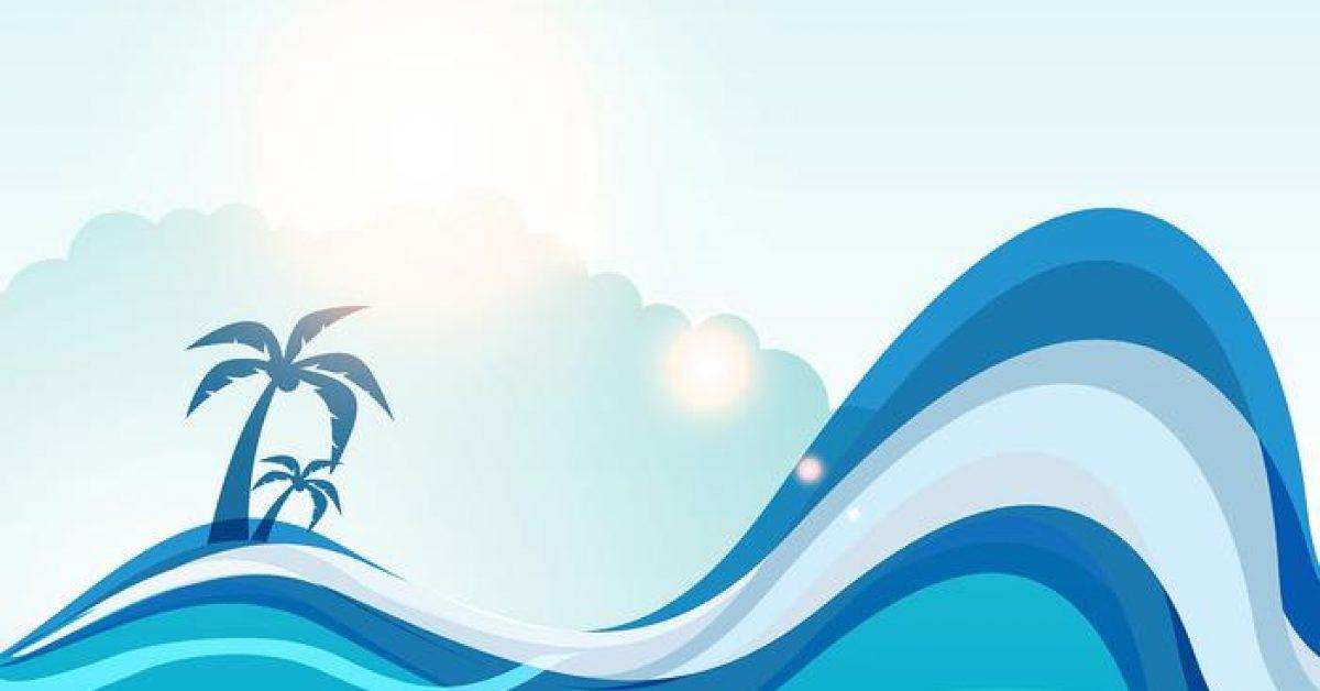 【海素材】62套 Illustrator 海插畫圖下載,海背景圖推薦款