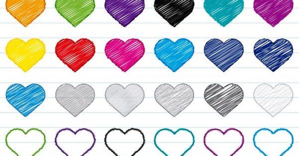 【愛心圖案】30套 Illustrator 愛心圖片下載,愛心素材推薦款