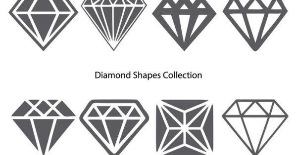 【鑽石圖案】34套 Illustrator 鑽石素材下載,鑽石符號推薦款