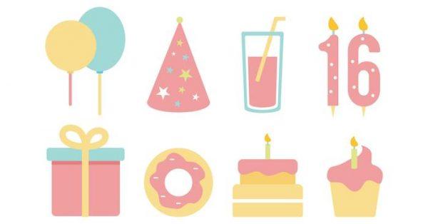【生日蛋糕圖卡】40套 Illustrator 生日蛋糕q版圖下載,可愛生日蛋糕推薦款